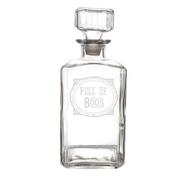 Full of Boos 34 oz. Glass Decanter HW-1193-GH