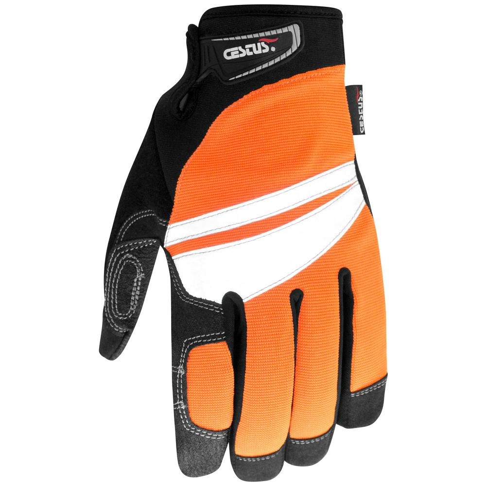Large Orange HandMax Safety Gloves
