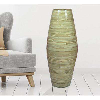 27.5 in. Natural Tall Bamboo Decorative Floor Vase