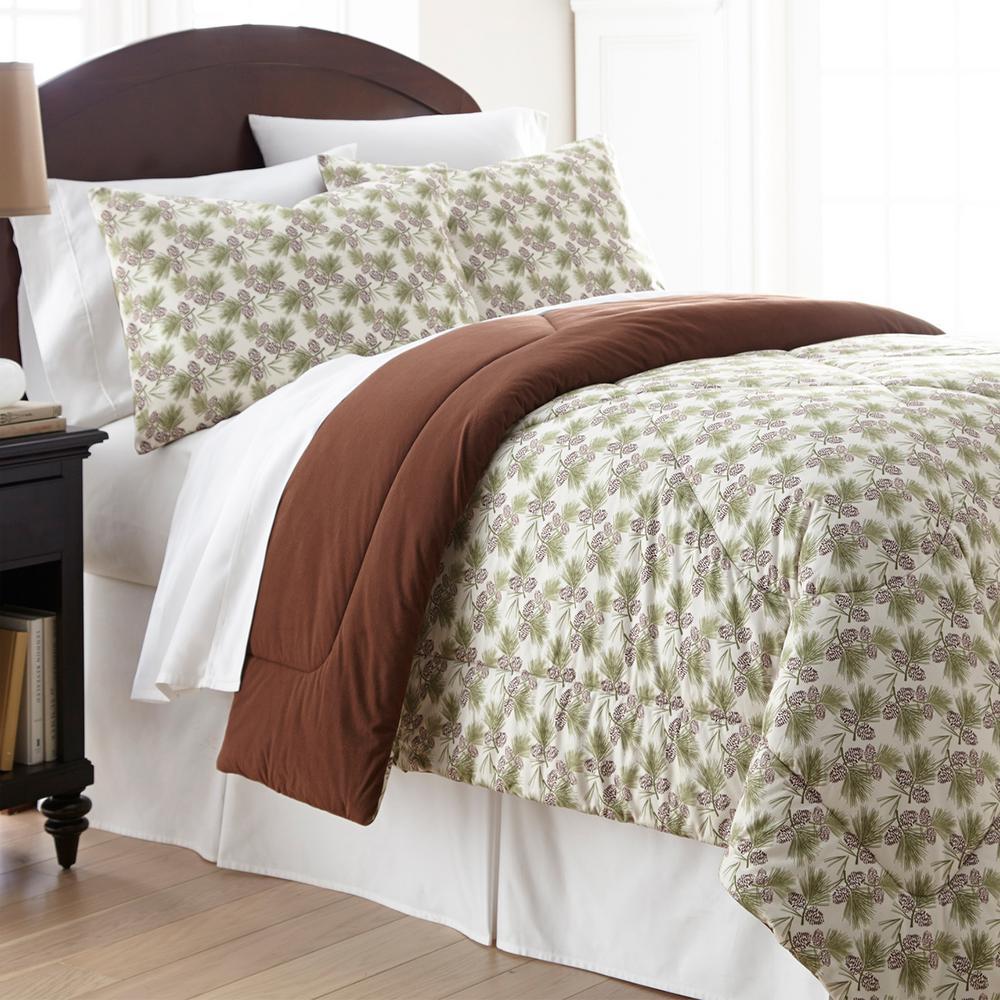Pinecone King 4-Piece Comforter Set