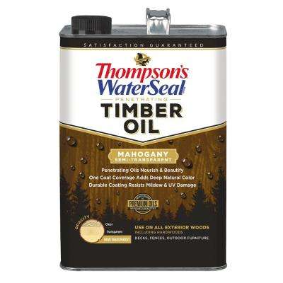 1 gal. Semi-Transparent Mahogany Penetrating Timber Exterior (4-Pack )