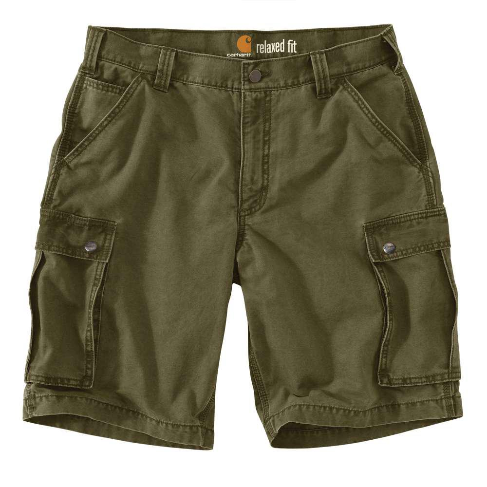 Men's Regular 34 Army Green Cotton Shorts