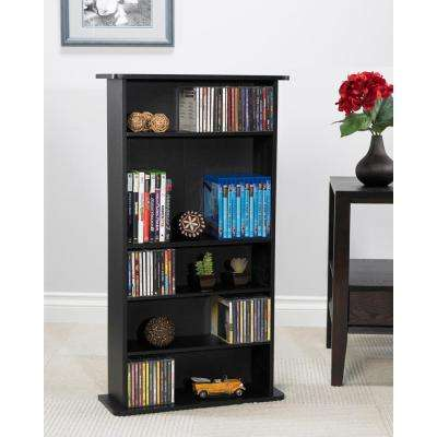 Black Media Storage  sc 1 st  The Home Depot & Wood - Black - CD u0026 DVD Cabinets - Media Storage - Living Room ...