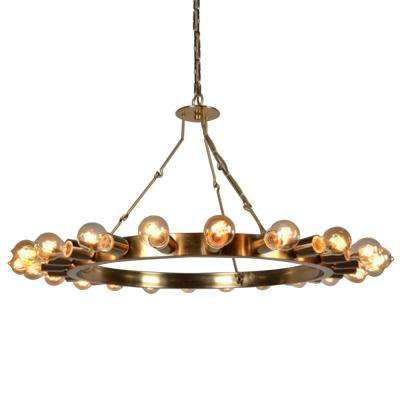 22-Light Bronze Chandelier
