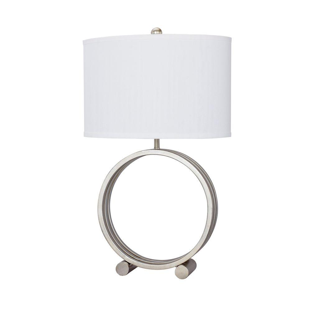 Genial Champagne Gold Metal Circle Table Lamp