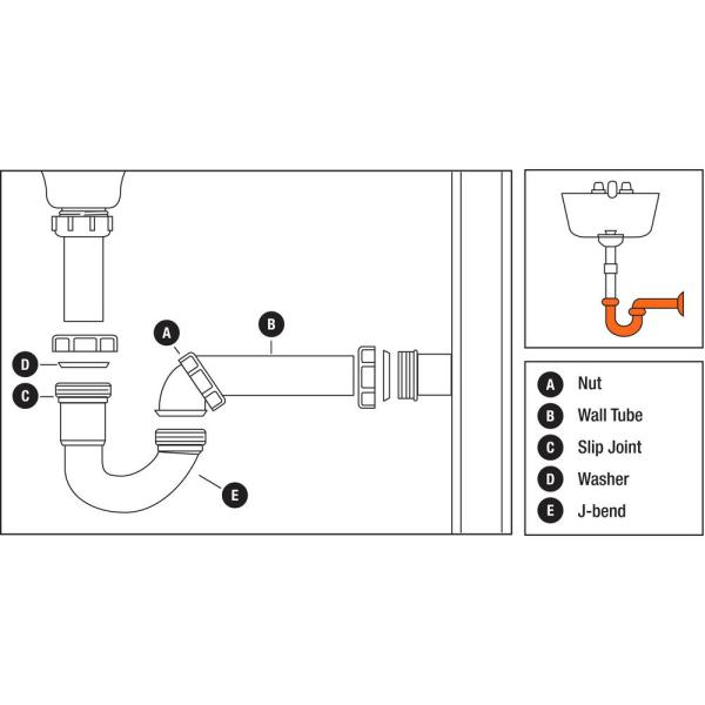 Everbilt 1 1 2 In White Plastic Sink Drain P Trap Kit C2661c The Home Depot