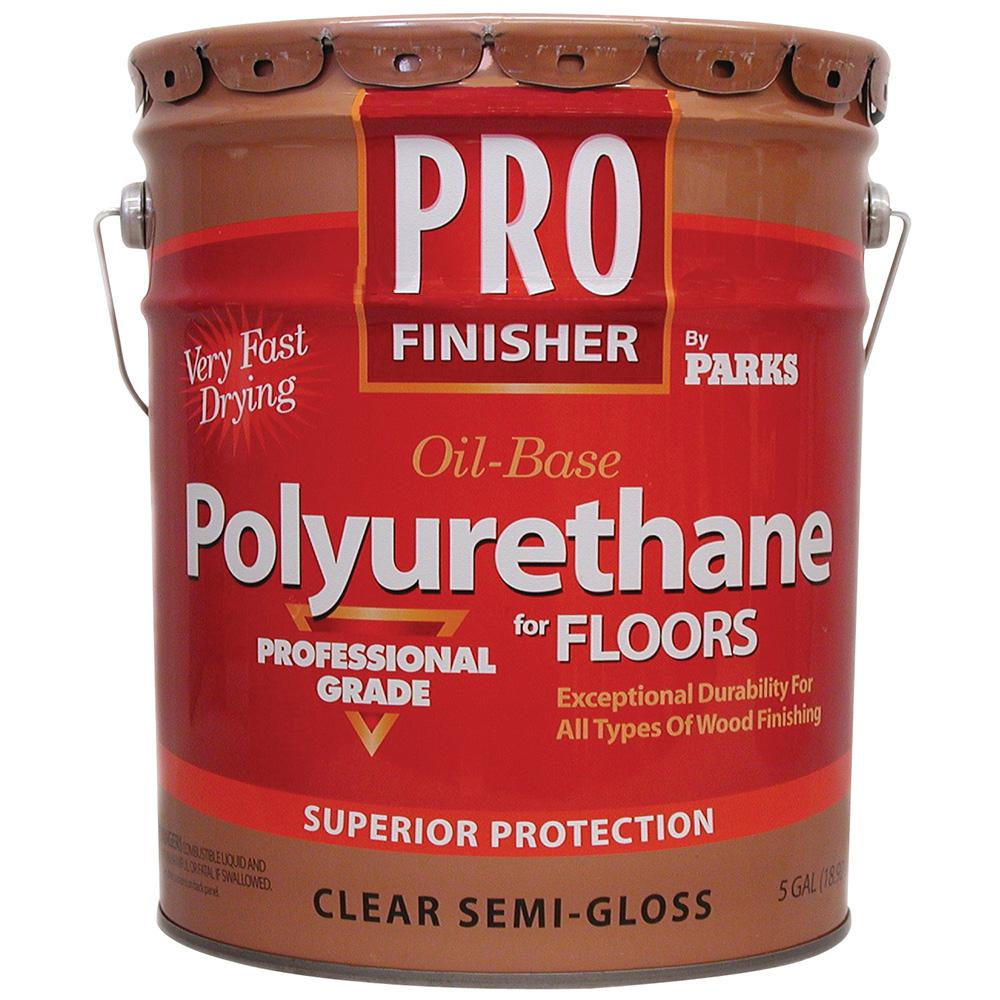 Rust-Oleum Parks Pro Finisher 5 gal. Clear Semi-Gloss Oil-Based Polyurethane for Floors