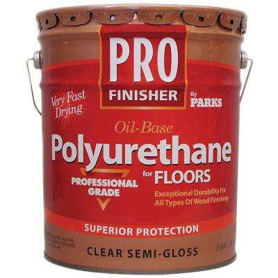 Pro Finisher 5 gal. Clear Semi-Gloss Oil-Based Polyurethane for Floors