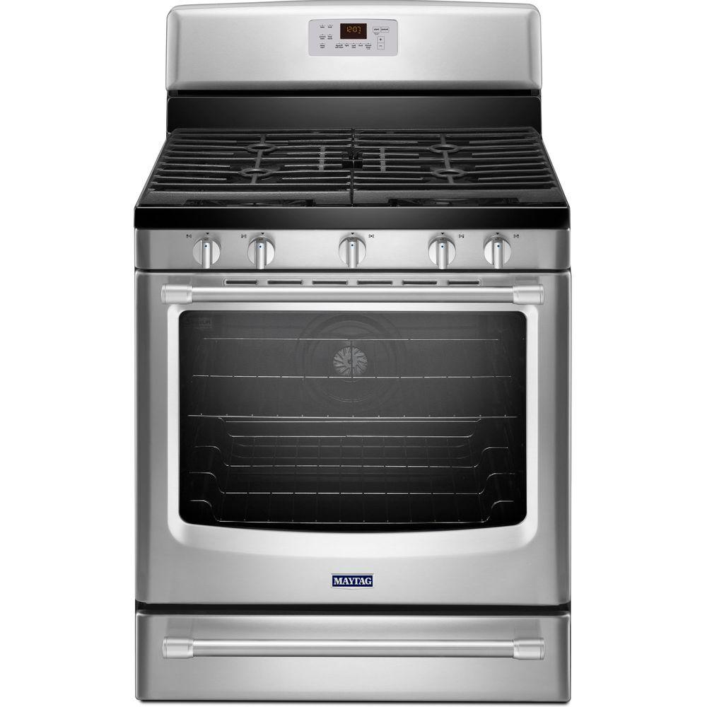 Maytag AquaLift 5.8 cu. ft. Gas Range with Self-Cleaning Convection Oven in Stainless Steel