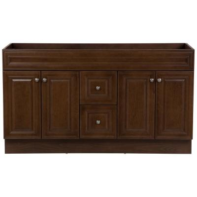 Glensford 60 in. W x 22 in. D Vanity Cabinet Only in Butterscotch