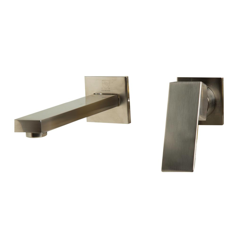 ALFI BRAND Single-Handle Wall Mount Bathroom Faucet in Brushed ...