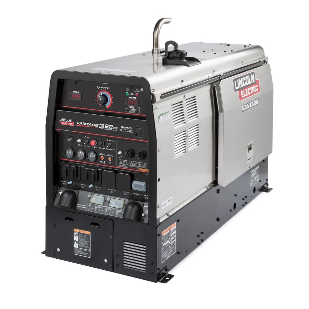 Vantage 322, 300 Amp Diesel Engine Driven Welder 11.5 KW Peak Generator