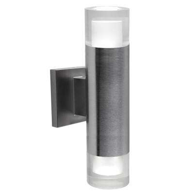 13 in. x 3 in. Luvia Stainless Steel LED Outdoor Wall Mount Cylinder Light