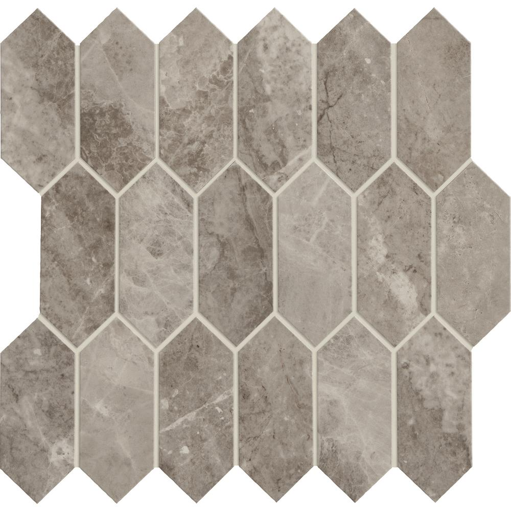 Marble View Marble Storm Matte 12 in. x 12 in. x