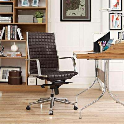 Pattern Highback Office Chair in Brown
