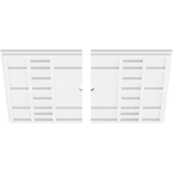 Ekena Millwork 24 In W X 16 In H X 1 In Id X 1 In P Beaux Architectural Grade Pvc Contemporary Ceiling Medallion 2 Piece 192770567620 The Home Depot