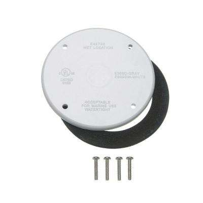 4 in. Round Weatherproof Electrical Box Cover (10 per Case)