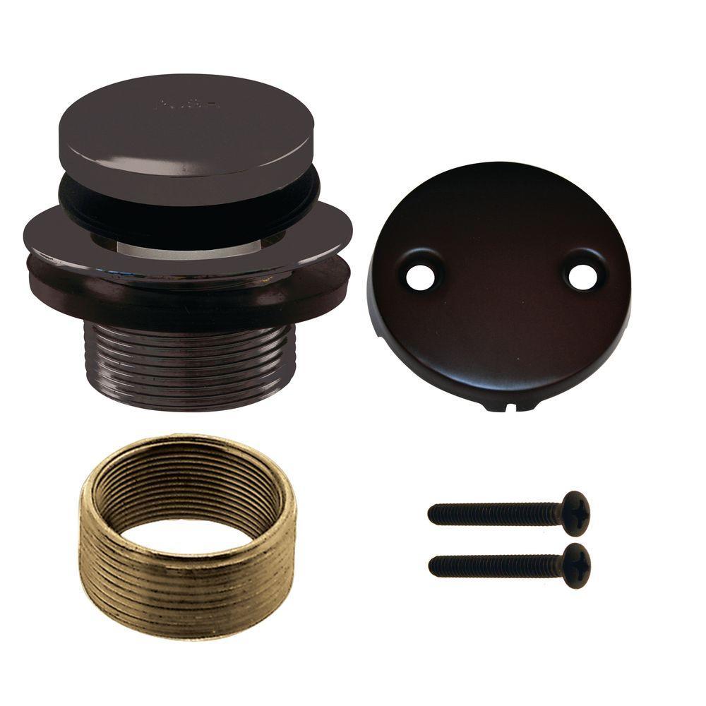 Universal Tip-Toe Drain 2-Hole Strainer Trim Kit