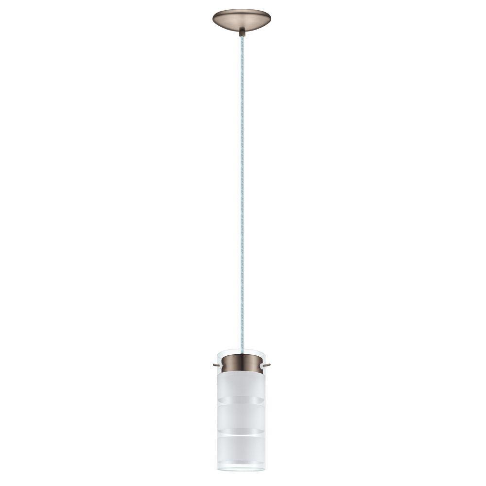 Olvero 40-Watt Satin Nickel Integrated LED Pendant