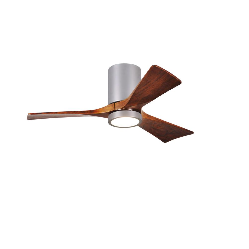 Irene 52 in. LED Indoor/Outdoor Damp Brushed Nickel Ceiling Fan with
