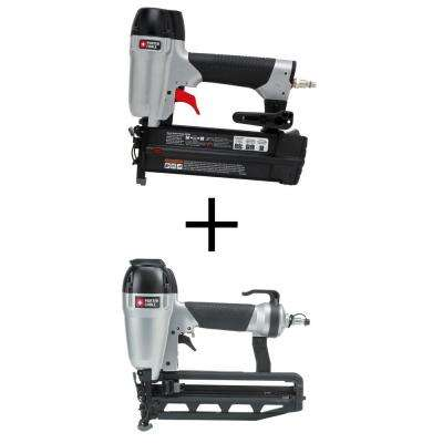 18-Gauge Pneumatic Brad Nailer Kit with Bonus Pneumatic 16-Gauge 2-1/2 in. Nailer Kit