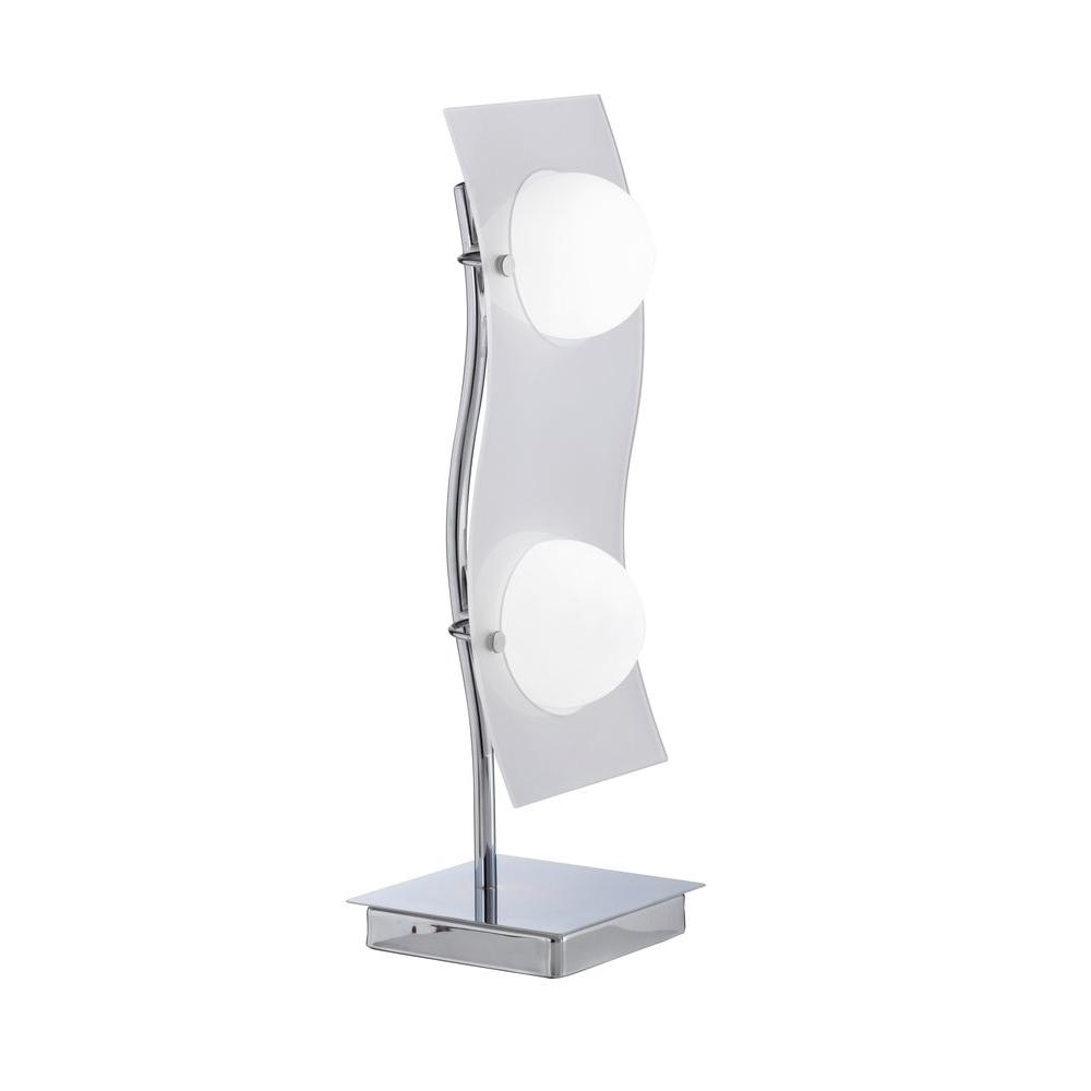 Eglo Layer 2-Light 19 in. Chrome Table Lamp