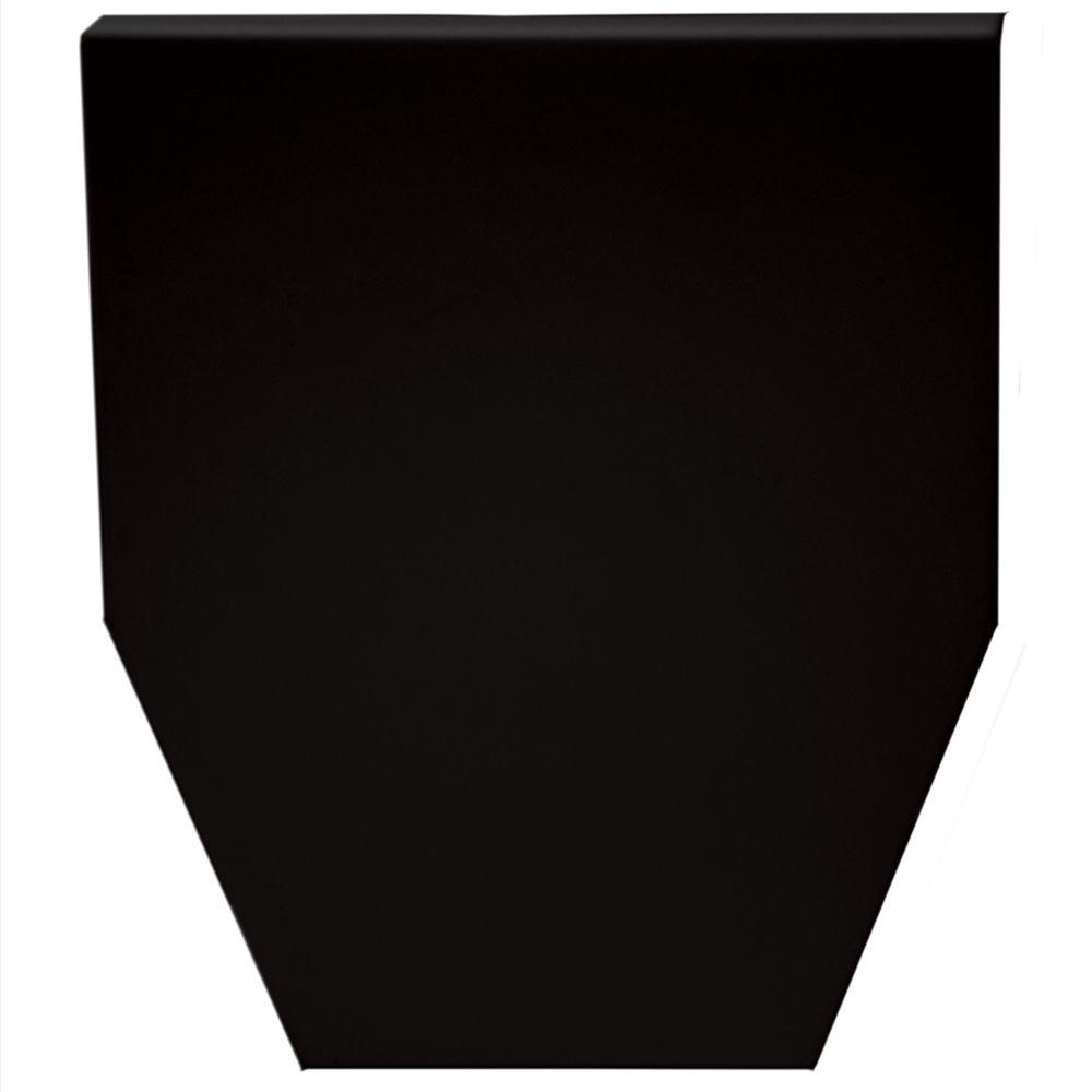 9 in. Classic Dentil Window Header Keystone in 002 Black