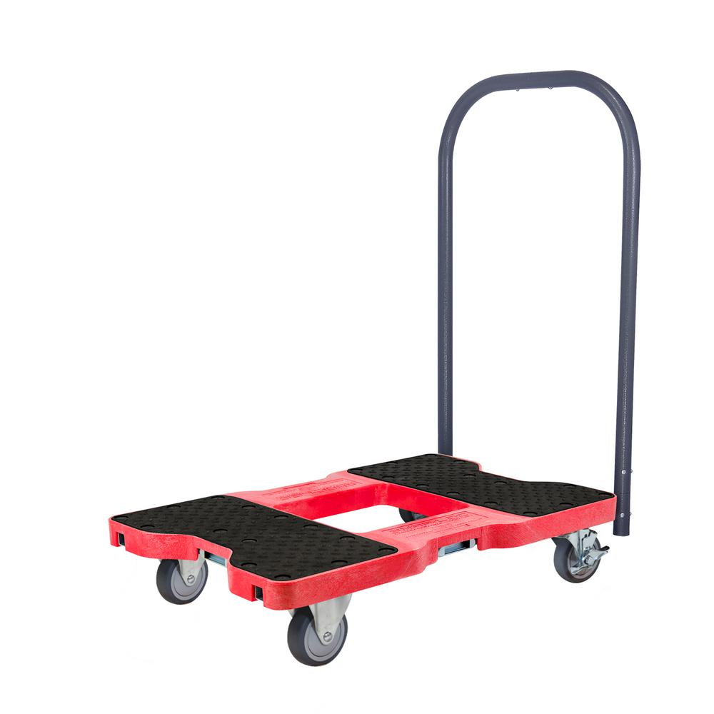 1,200 lbs. Capacity Professional E-Track Push Cart Dolly in Red