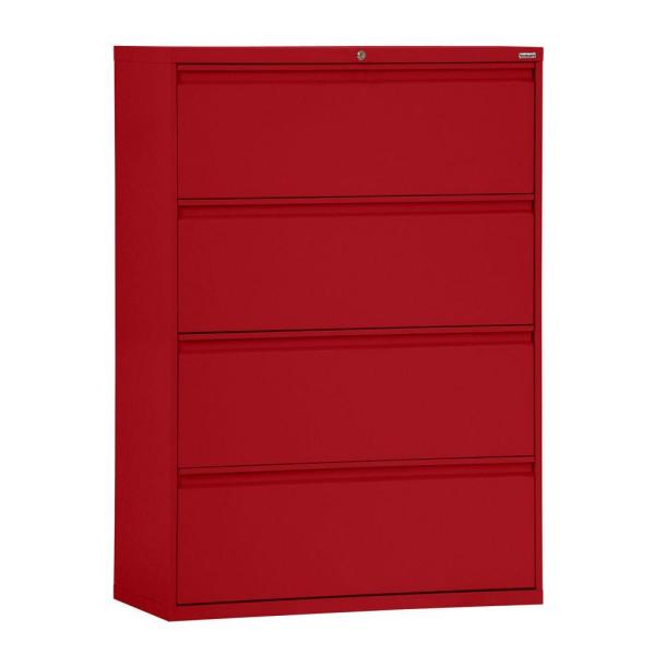 Sandusky 800 Series 42 in. W 4-Drawer Full Pull Lateral File