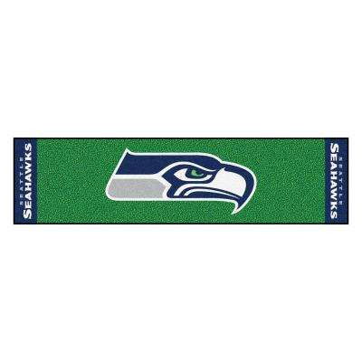 NFL Seattle Seahawks 1 ft. 6 in. x 6 ft. Indoor 1-Hole Golf Practice Putting Green