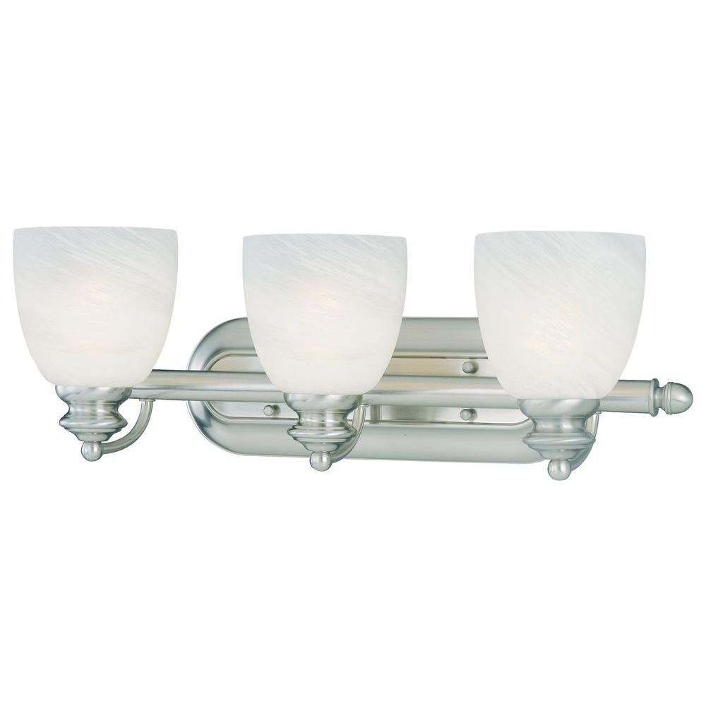 Thomas Lighting Tranquility 3-Light Brushed Nickel Wall Vanity-DISCONTINUED