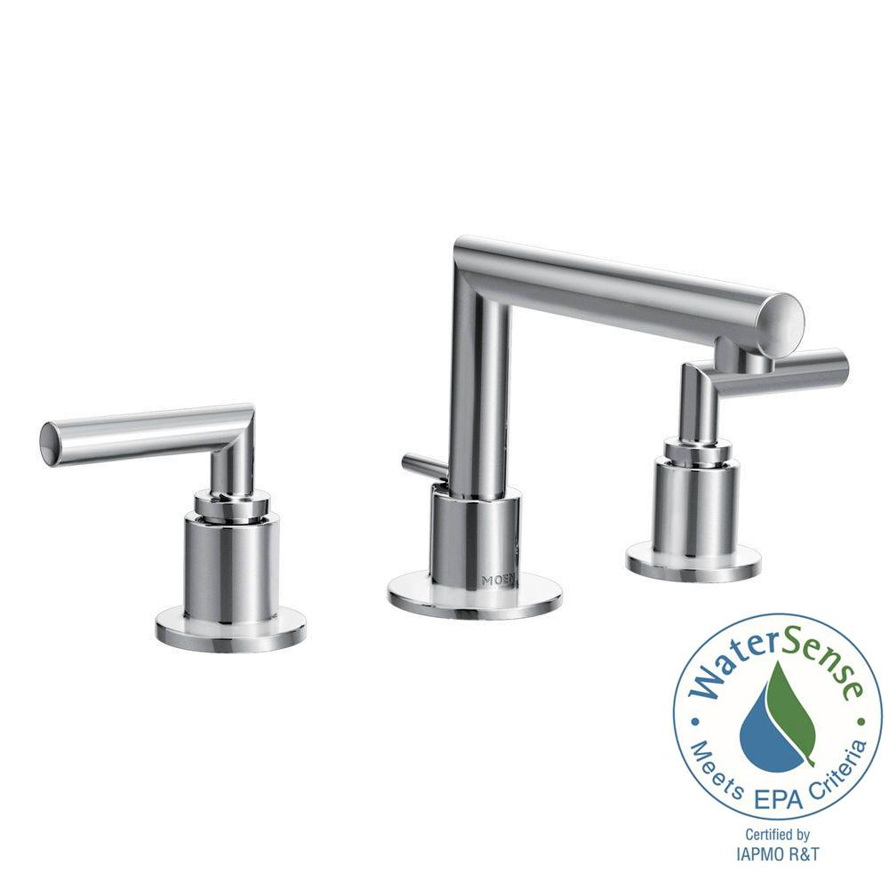 Arris 8 in. Widespread 2-Handle Bathroom Faucet Trim Kit in Chrome