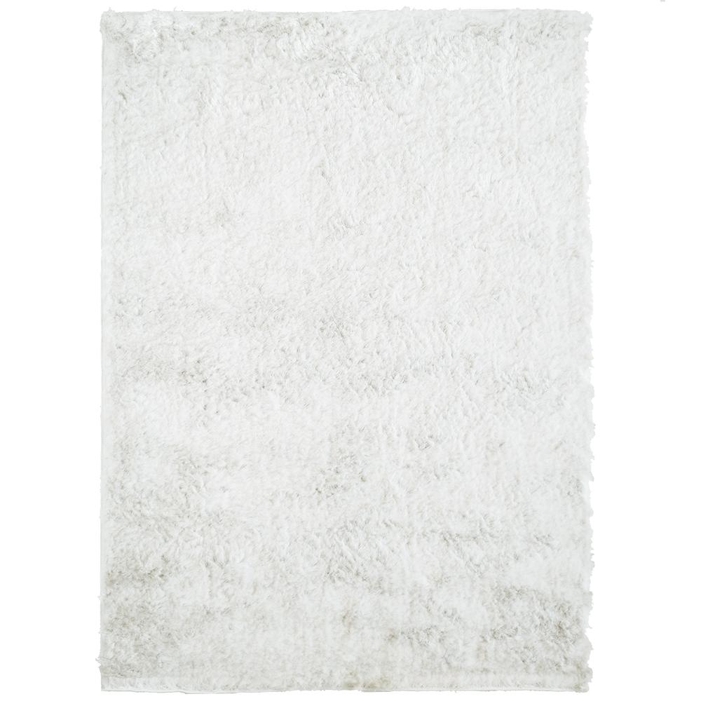 So Silky White Polyester 4 ft. x 6 ft. Area Rug
