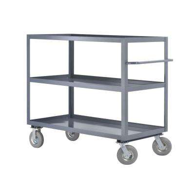 60 in. W 3-Shelf Steel Heavy Duty All Purpose Truck and Utility Cart