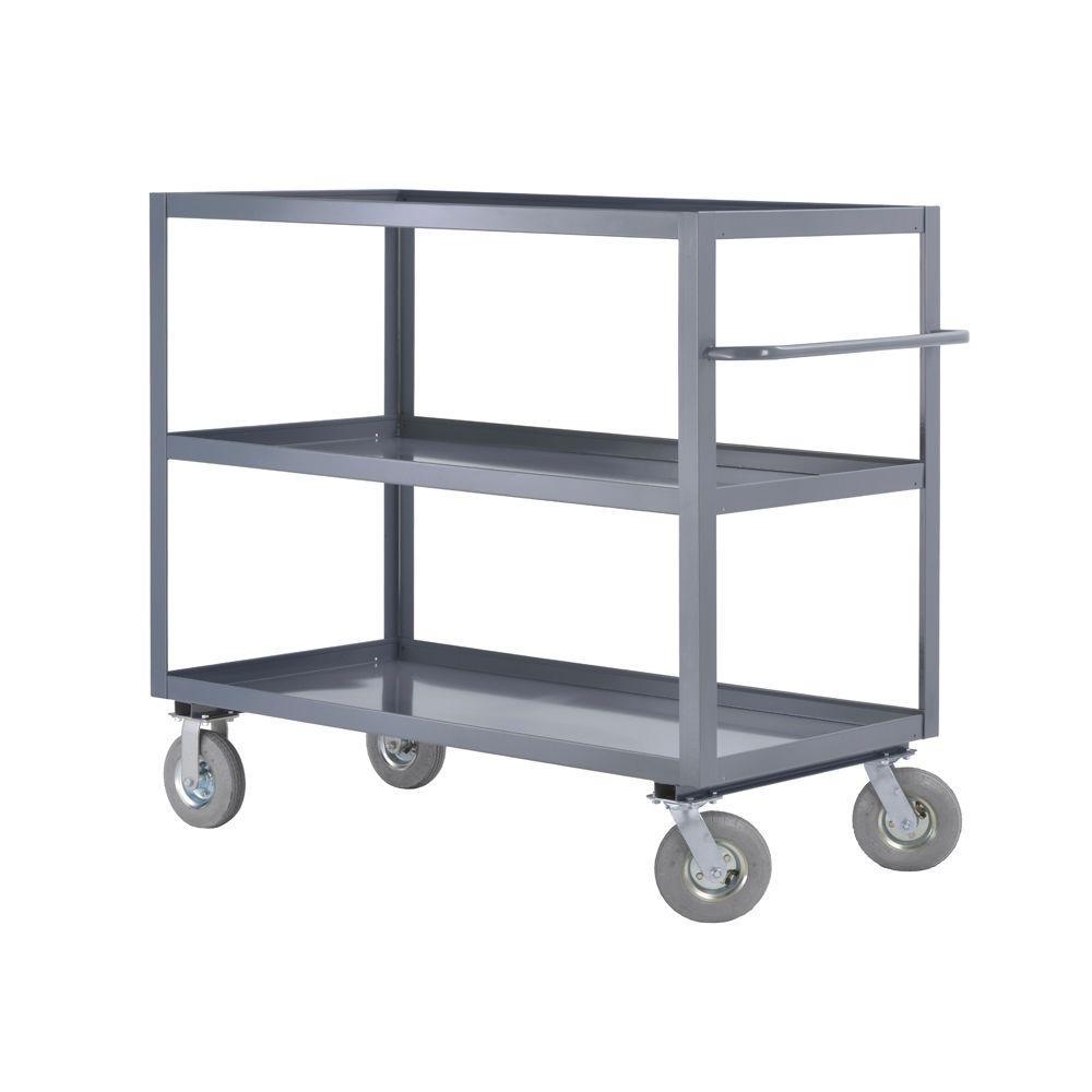 60 in. W 3-Shelf Steel Heavy Duty All Purpose Truck and Utility Cart
