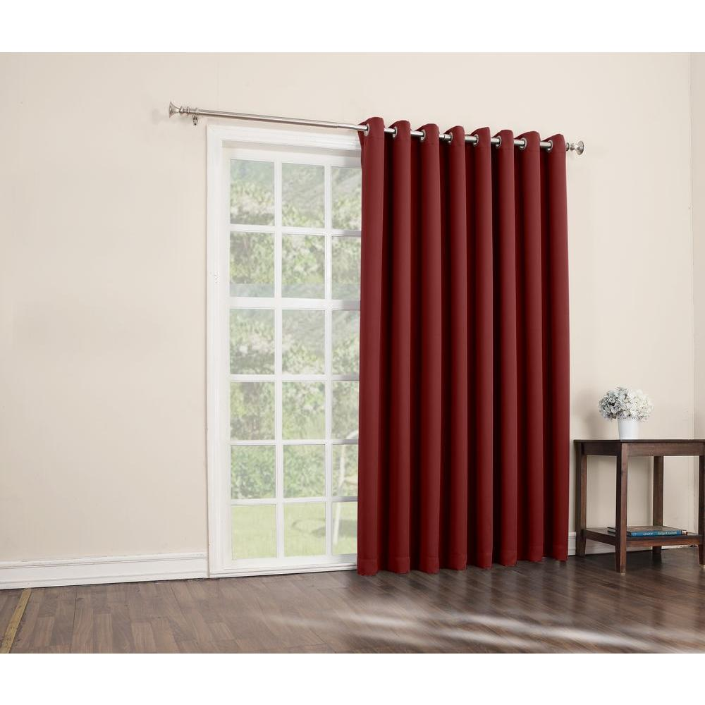 L Extra Wide Blackout Patio Panel In Red