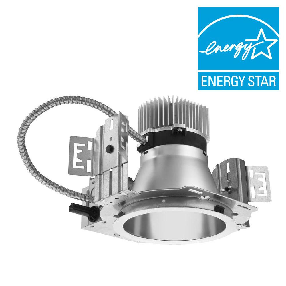 6 in. Silver Recessed LED Commercial Downlight Housing