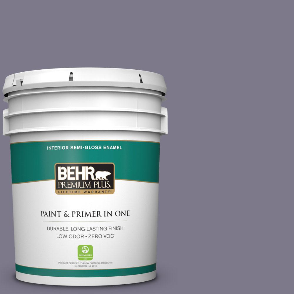 5-gal. #N560-5 Solitaire Semi-Gloss Enamel Interior Paint