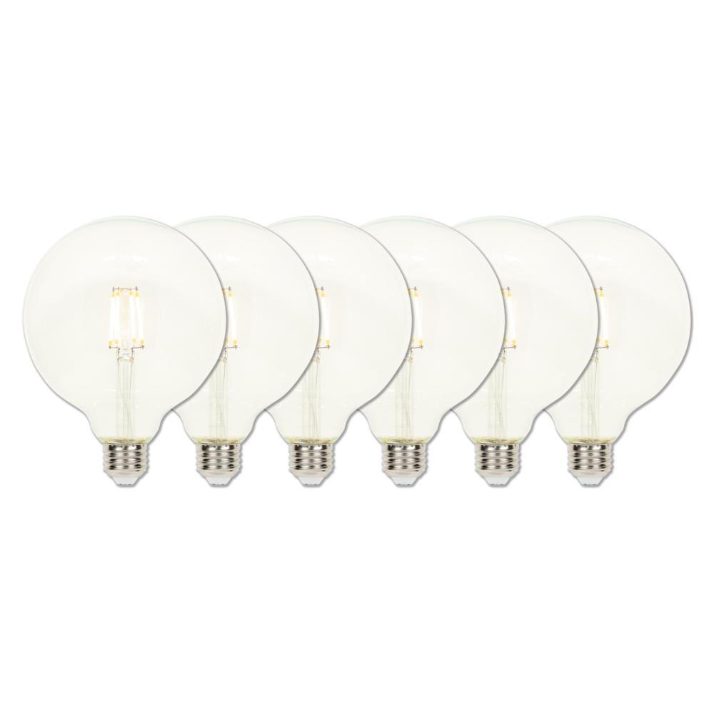 40-Watt Equivalent G40 Dimmable Filament LED Light Bulb Soft White Light (6-Pack)