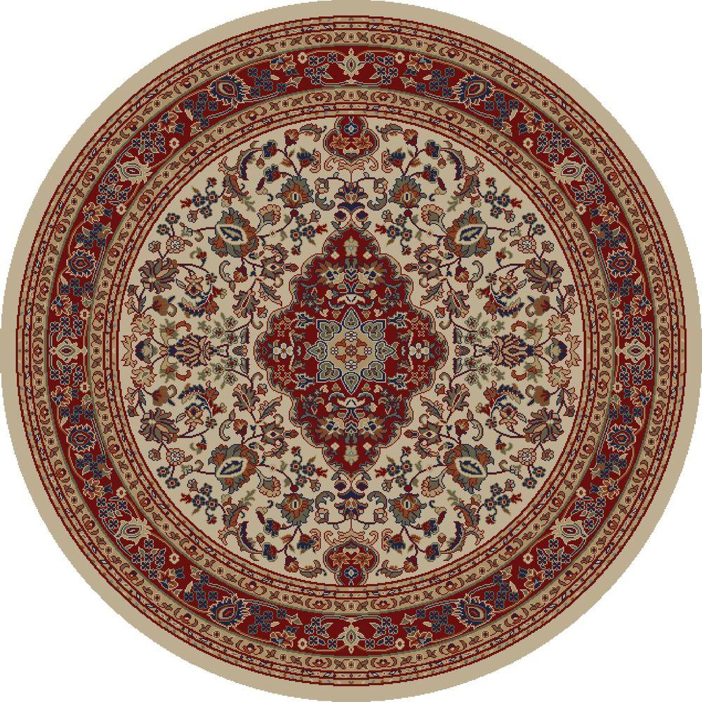 Jewel Heriz Ivory 5 ft. 3 in. Round Area Rug