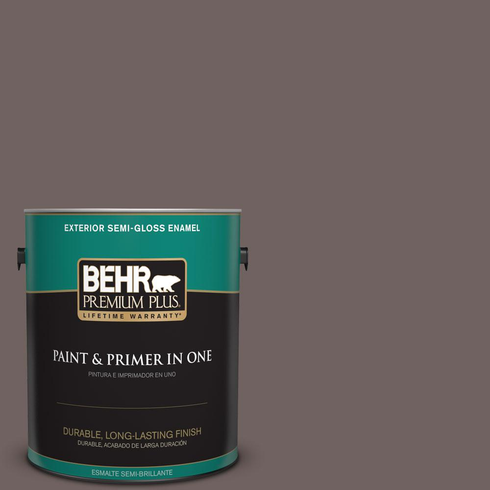 1-gal. #N140-6 Wright Brown Semi-Gloss Enamel Exterior Paint