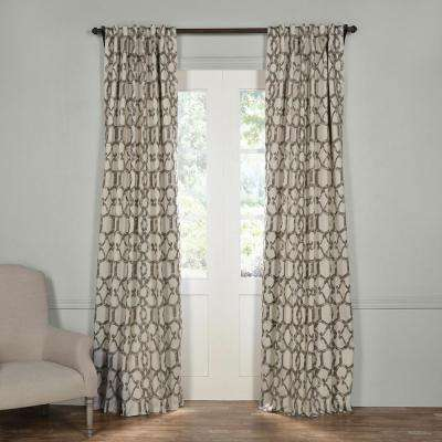 Semi-Opaque Imperial Fossil Beige Blackout Curtain - 50 in. W x 84 in. L (Panel)