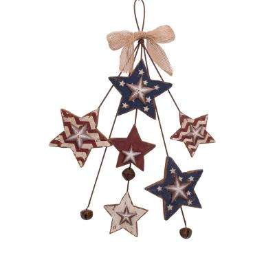 14.96 in. H Wooden/Iron Star Spray Wall Dcor