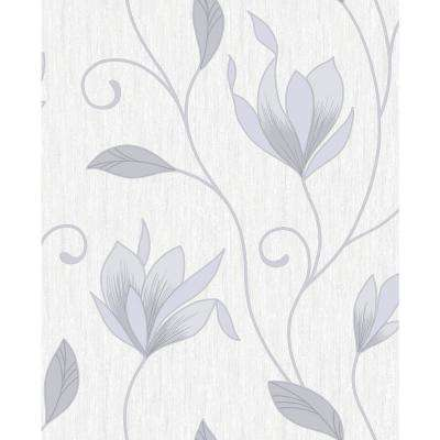 8 in. x 10 in. Synergy Grey Floral Trails Sample