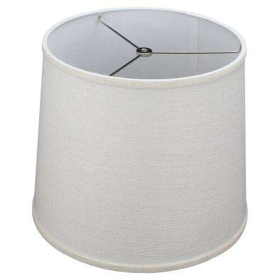 12 in. Top Diameter x 14 in. Bottom Diameter x 12 in. Burlap Off White Slant Empire Lamp Shade