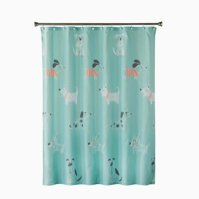 Scribble Pup 72 in. Multi Shower Curtain