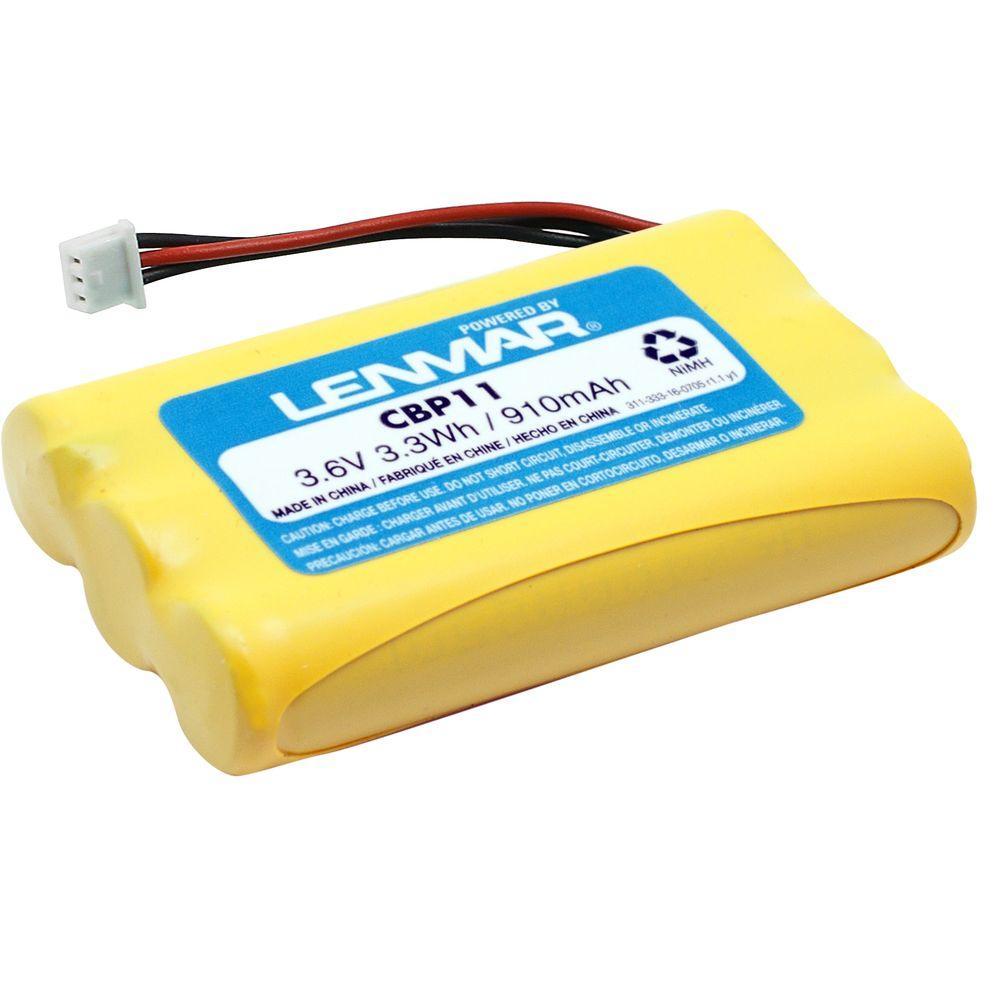 Lenmar Nickel-Metal Hydride 910mAh/3.6-Volt Cordless Phone Replacement Battery