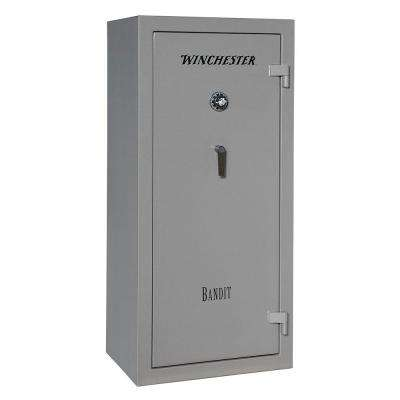 Bandit 19 cu. ft. 24-Gun 45-Minute Fire Resistant U.L. Mechanical Lock Gun Safe, Gunmetal