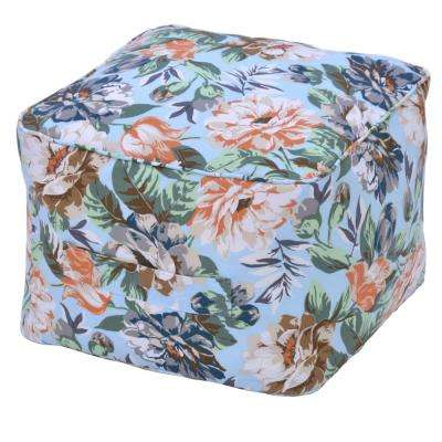 Charleston Floral Outdoor Pouf Cushion