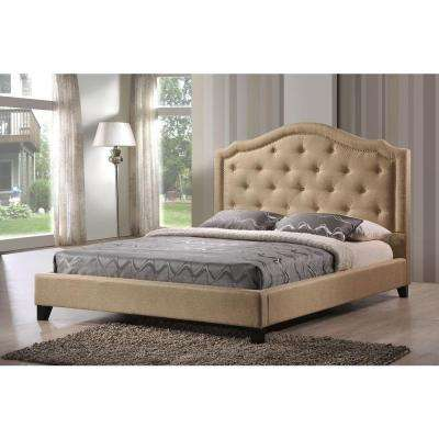 Brentwood Beige King Upholstered Bed